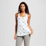 Women's Knit Pajama Tank Aqua Floral - Xhilaration
