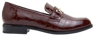 Sandler Paragon Burgundy Patent Croc Flat Shoes