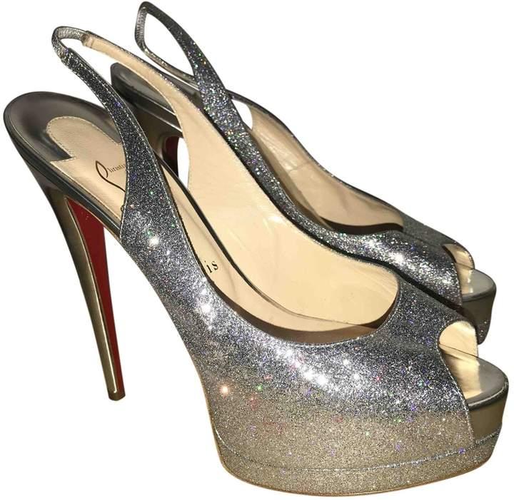 more photos 1f0aa cf8c7 Silver Glitter Heels