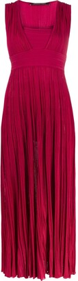 Antonino Valenti Square-Neck Pleated Dress