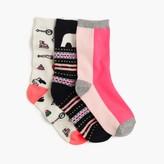 J.Crew Girls' holiday trouser socks three-pack