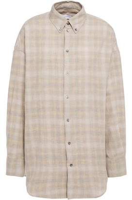 IRO Unforgettable Gingham Cotton And Wool-blend Shirt