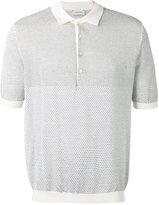 Lemaire patterned knit polo - men - Cotton/Cashmere/Polyurethane - S