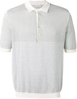 Lemaire patterned knit polo - men - Cotton/Polyurethane/Cashmere - S