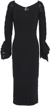 Roland Mouret Boynton Burnout-effect Stretch-knit Dress