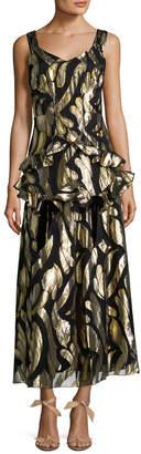 Anna Sui Metallic Midi Dress