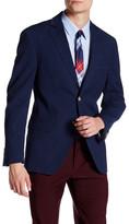 JKT NEW YORK Bond Navy Houndstooth Two Button Notch Lapel Jacket