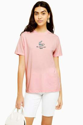 Womens 'World Is Your Oyster' T-Shirt By Tee & Cake - Pink
