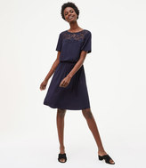 LOFT Floral Lace Yoke Dress