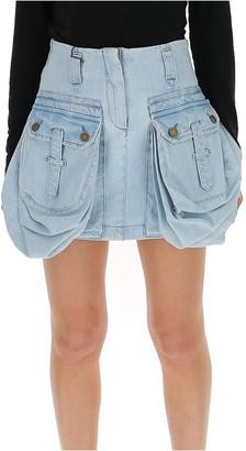 Alberta Ferretti Oversize Pocket Mini Skirt