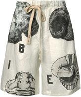 Loewe shell print shorts