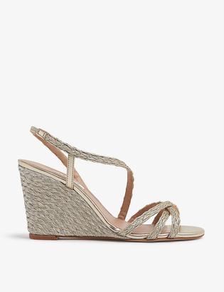LK Bennett Shiela woven-rope wedge sandals