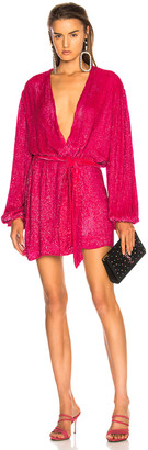 retrofete for FWRD Gabrielle Robe Dress in Metallic Fuchsia | FWRD