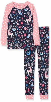 Hatley Girl's 100% Organic Cotton Long Sleeve Printed Wrap Pyjama Sets