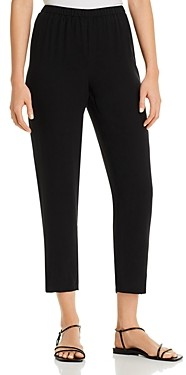 Eileen Fisher Petites Eileen Fisher Petite System Silk Tapered Ankle Pants