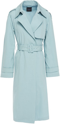 Theory Cotton And Silk-blend Twill Trench Coat