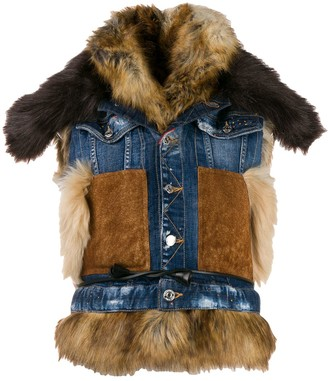DSQUARED2 Mixed Material Denim Gilet