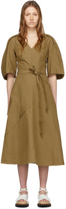 3.1 Phillip Lim Tan Balloon Sleeve Dress