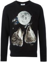 Ami Alexandre Mattiussi crew neck sweatshirt wolves print