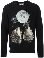Ami Alexandre Mattiussi wolves print sweatshirt
