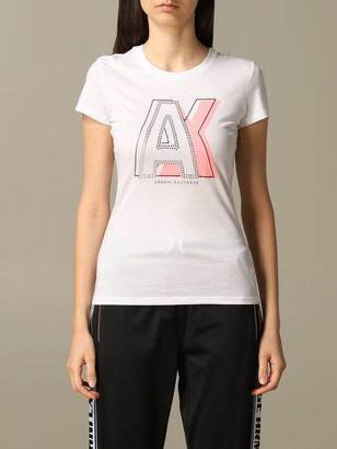 Armani Collezioni Armani Exchange T-shirt Armani Exchange T-shirt With Stud Logo