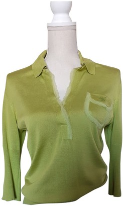 Kenzo Green Silk Top for Women Vintage