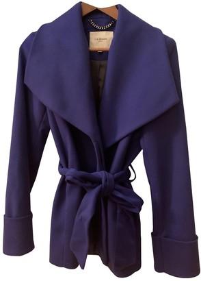 LK Bennett Blue Wool Coat for Women
