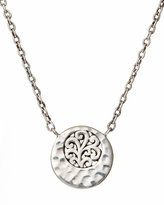 Carved Swirls Pendant Necklace