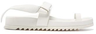 Rick Owens Granola Leather Slides - Womens - White