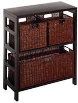 Bed Bath & Beyond Leo 2-Tier Shelf with Wire Frame Baskets