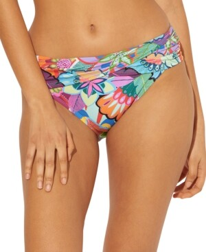 BLEU by Rod Beattie Ruched Hipster Bikini Bottoms Women's Swimsuit