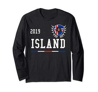 Iceland Football Jersey 2019 Icelandic Soccer Jersey Long Sleeve T-Shirt