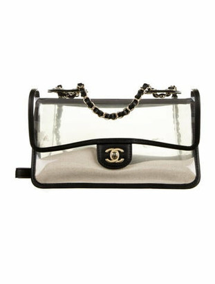 Chanel 2019 Sand By The Sea Flap Bag Clear