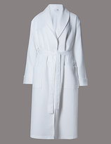 Autograph Pure Cotton Luxury Waffle Dressing Gown