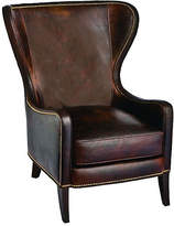 Massoud Furniture Dempsey Wingback Chair - Cocoa Leather