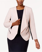 Nine West Plus Size Zip-Pocket Blazer
