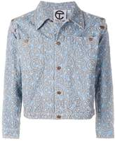 Telfar embroidered denim jacket
