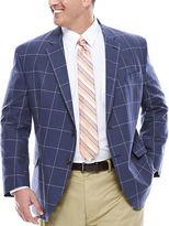 STAFFORD Stafford Linen Cotton Windowpane Jacket - Big & Tall