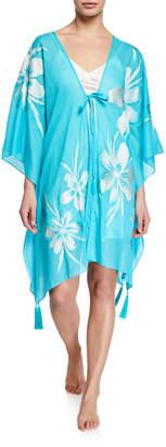 Josie Natori Paradise Embroidered Kimono Topper