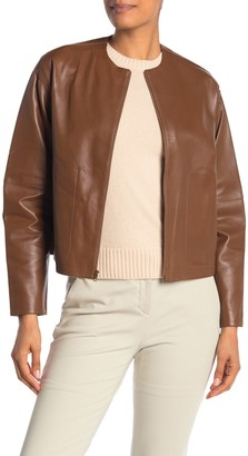 Vince Lamb Leather Jacket