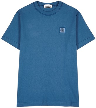 Stone Island Blue cotton T-shirt
