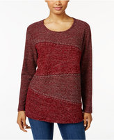 Style&Co. Style & Co. Petite Rhinestone Marled Top, Only at Macy's