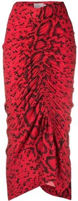 Preen by Thornton Bregazzi Yadinna snakeskin print skirt