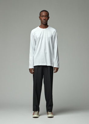 Comme des Garcons Men's Long Sleeve Logo T-Shirt in White Size Medium 100% Cotton