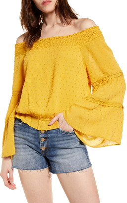 Lulus Sunny Story Off the Shoulder Top