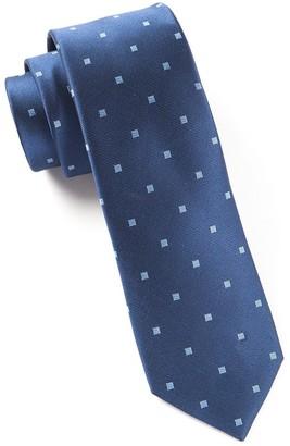 Tie Bar Checks & Balance Navy Tie