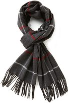 Fraas Fringed Windowpane Plaid Muffler