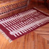 Novica Handcrafted Zapotec Wool 'Candles' Rug (4x6'5) (Mexico)