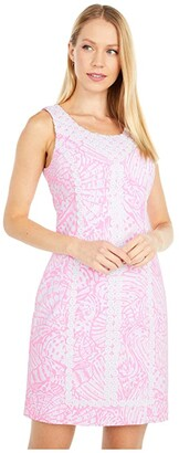 Lilly Pulitzer Macfarlane Stretch Shift (Pelican Pink Sea Cups) Women's Dress