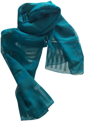 Moschino Turquoise Silk Scarves